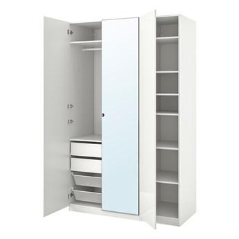 IKEA PAX / FARDAL/VIKEDAL Kombinacja szafy, połysk biały/lustro, 150x60x236 cm