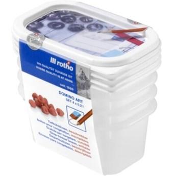 Zestaw pojemników na żywność ROTHO Domino 1755010233 4 szt.