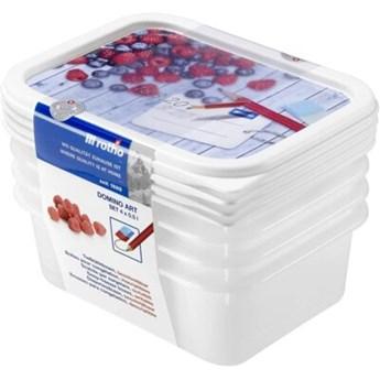 Zestaw pojemników na żywność ROTHO Domino 1755110234 4 szt.