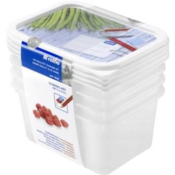 Zestaw pojemników na żywność ROTHO Domino 1755210235 4 szt.