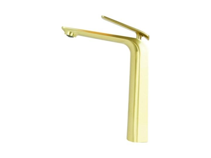 Bateria umywalkowa nablatowa VERDO złota Kolor Złoty Bateria stojąca Wykończenie Mosiądz