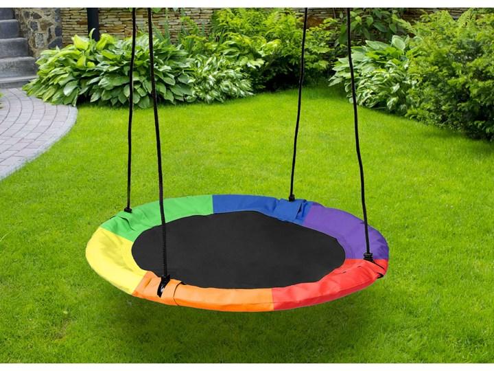 Huśtawka ogrodowa bocianie gniazdo ROMEK kolorowa 100cm Metal Pianka Kategoria Huśtawki dla dzieci