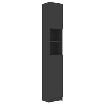 VidaXL Szafka łazienkowa, szara, 32x25,5x190 cm, płyta wiórowa