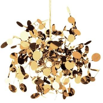 Lampa wisząca MONETTI złota 40 cm