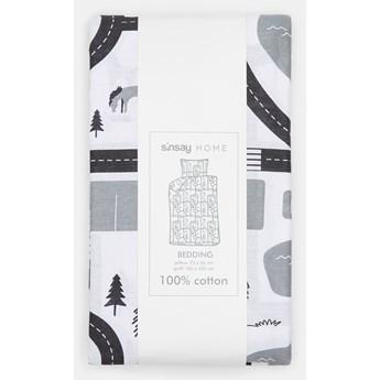 Sinsay - Komplet pościeli z bawełny 160x200 - Jasny szary