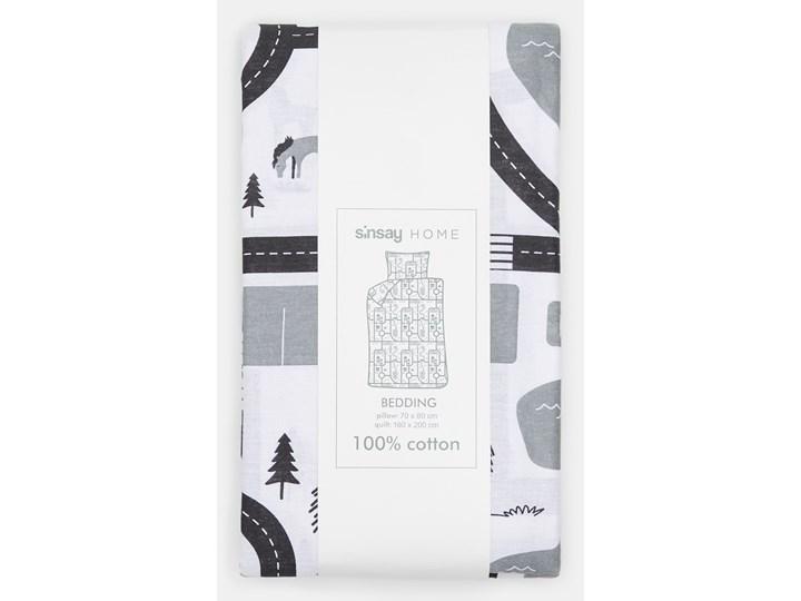 Sinsay - Komplet pościeli z bawełny 160x200 - Jasny szary Bawełna 160x200 cm Kategoria Komplety pościeli