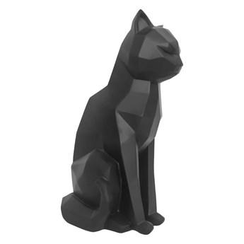 Matowa czarna figurka PT LIVING Origami Cat, wys. 29,5 cm