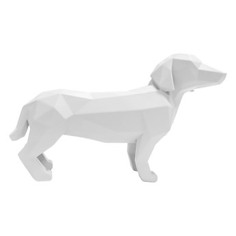 Matowa biała figurka PT LIVING Origami Standing Dog, wys. 20,8 cm