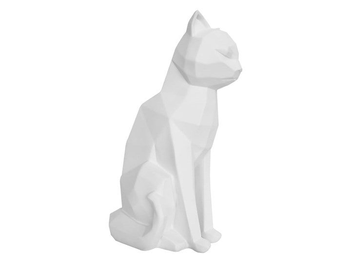 Matowa biała figurka PT LIVING Origami Cat, wys. 29,5 cm Kolor Biały