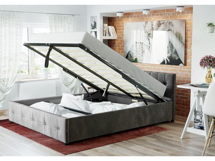 ŁÓŻKO Z MATERACEM TAPICEROWANE 160X200 1337 POPIEL WELUR Rozmiar materaca 160x200 cm Łóżko tapicerowane Kategoria Łóżka do sypialni