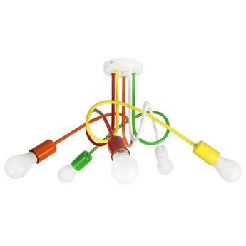 Kolorowa Lampa Sufitowa Mondo 5  Mix3 Loft do pokoju dziecka