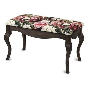 Ławka drewniana z tapicerowanym siedziskiem - Style Wenge