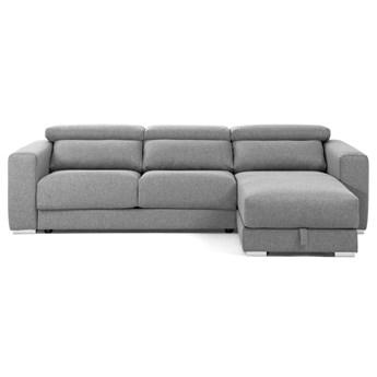 Sofa 3-osobowa Atlanta z szezlongiem jasnoszara 290 cm