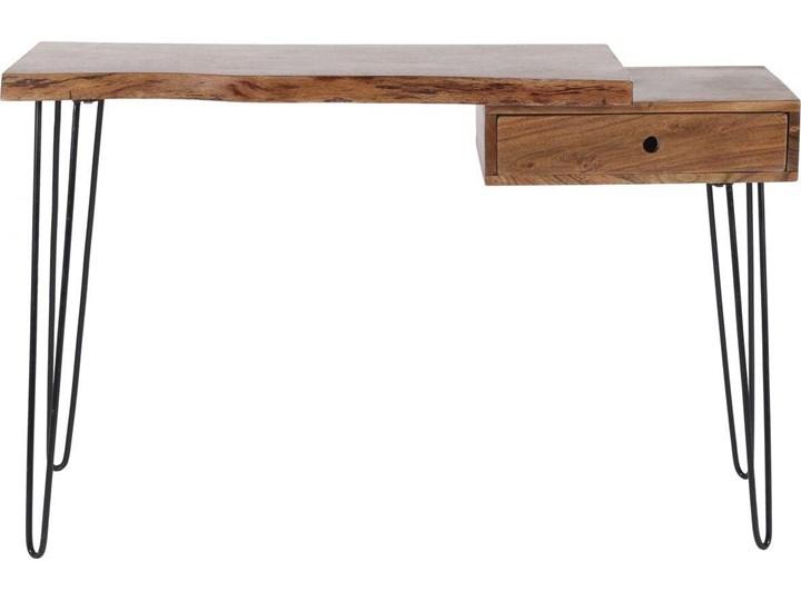 Biurko Live Edge 120x37 cm drewniane Szerokość 120 cm Pomieszczenie Biuro Drewno Metal Styl Industrialny