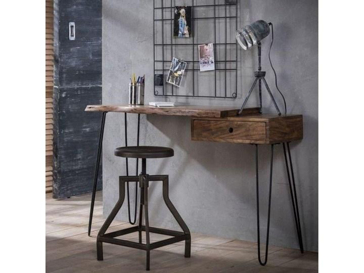 Biurko Live Edge 120x37 cm drewniane Metal Szerokość 120 cm Pomieszczenie Biuro Drewno Styl Industrialny