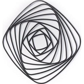 Dekoracja ścienna Univers 69x69 cm czarna