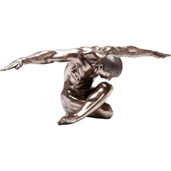 Figurka dekoracyjna Nude Man Bow 137x40 cm brązowa