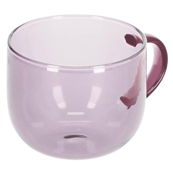 Kubek do kawy Alahi szklo rózowe