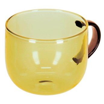 Kubek do kawy Alahi z zóltego szkla