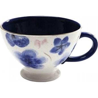 Filiżanka Provence Flowers 19x9 cm biało-niebieska
