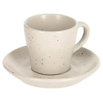 Filizanka do kawy i spodek Midori bialy