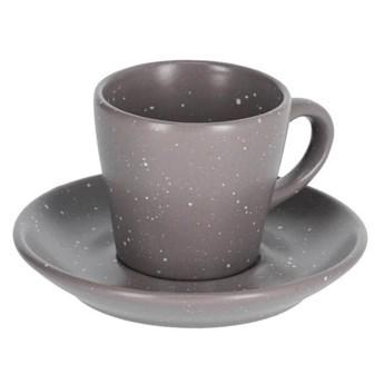 Filizanka do kawy i spodek Midori ciemnoszary