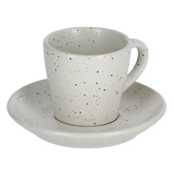 Filizanka do kawy i spodek Midori jasnoszary