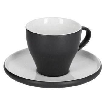 Filizanka do kawy i spodek Sadashi porcelanowy bialy i czarny