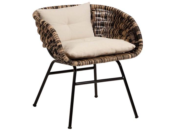 Fotel Lin 66x69 cm naturalno-czarny Rattan Metal Wysokość 66 cm Głębokość 66 cm Kategoria Fotele do salonu