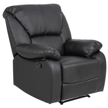 Fotel rozkładany Hazell 94x107 cm recliner czarny