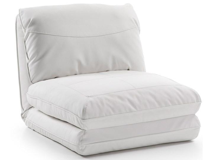 Fotel rozkładany Moss 78x66 cm biały ekoskóra Tkanina Metal Wysokość 78 cm Skóra ekologiczna Szerokość 78 cm Kategoria Fotele do salonu Styl Nowoczesny