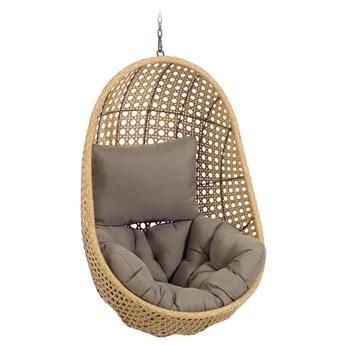 Fotel wiszący Cira 84x121 cm naturalny