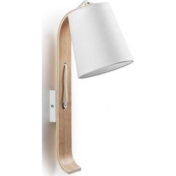 Kinkiet Percy 24x43 cm biało-drewniany