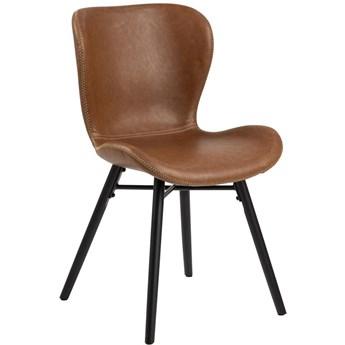 Krzesło Fearon 47x83 cm brązowe ekoskóra - nogi czarne