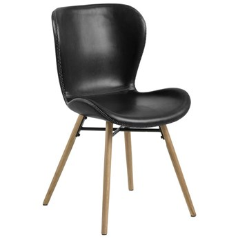 Krzesło Fearon 47x83 cm ciemnoszare - nogi dębowe