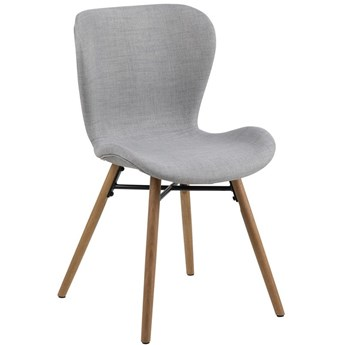 Krzesło Fearon 47x83 cm jasnoszare nogi drewniane