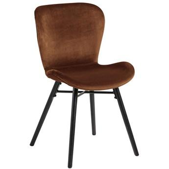 Krzesło Fearon Vic 47x83 cm miedziane nogi czarne