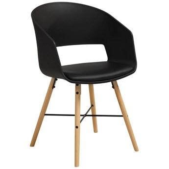Krzesło Gali 52x81 cm czarno-drewniane