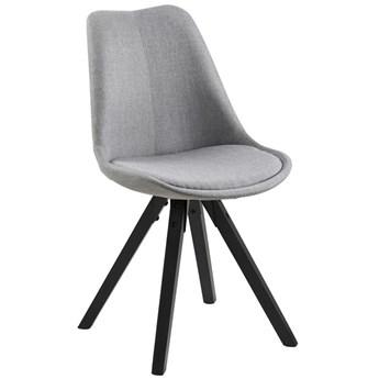 Krzesło Farrugia 49x85 cm jasnoszare nogi czarne