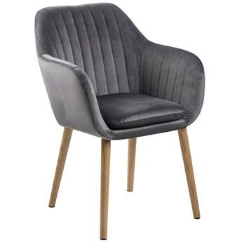 Krzesło Faruolo 57x83 cm ciemnoszare