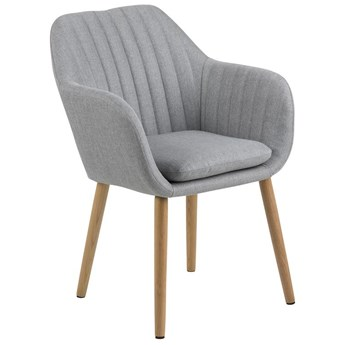 Krzesło Faruolo 57x83 cm jasnoszare