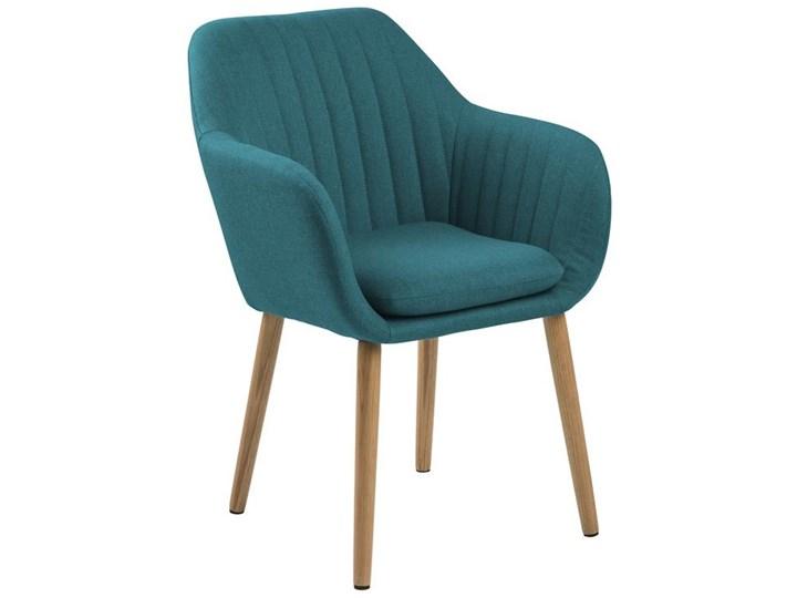 Krzesło Emilia 57x83 cm petrol nogi drewniane Głębokość 23 cm Drewno Głębokość 61 cm Tkanina Wysokość 57 cm Tapicerowane Z podłokietnikiem Wysokość 66 cm Styl Nowoczesny