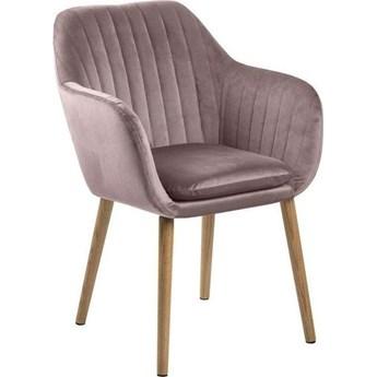 Krzesło Faruolo 57x83 cm różowe