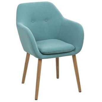 Krzesło Faruolo 57x83 cm turkusowe