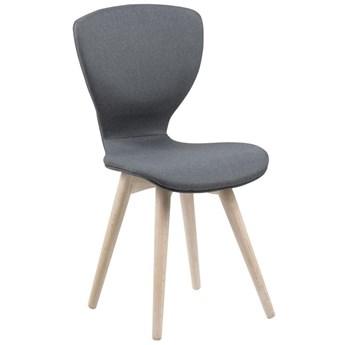 Krzesło Fabula 44x87 cm ciemnoszare nogi bielone