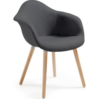 Krzesło Kenna Quilted 62x81 cm ciemnoszare