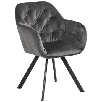 Krzesło Gianandrea 57x83 cm ciemnoszare