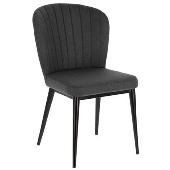 Krzeslo Madge ciemnoszare i stalowe z czarnym wykonczeniem