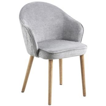 Krzesło Gandara 63x80 cm szare nogi drewniane