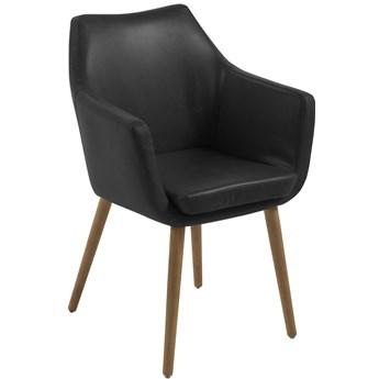 Krzesło Elgar 58x84 cm czarne ekoskóra